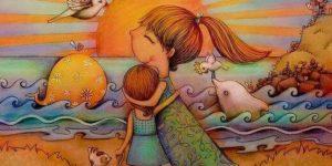 Madre-abrazando-a-su-hija-en-la-playa
